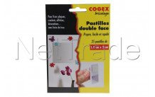 Facom - Double sided adhesive pads 25 pieces. - 84107