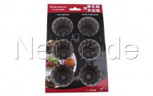 Crealys set of 6 canelle moulds  silicone