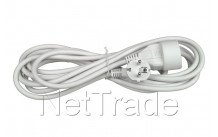 Universel - Extension cord 3-outlets x 1.5 5 m white