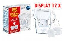 Brita - Fill&enjoy marella cool white 2.4l + 2 maxtra display 12stuks - 1040954