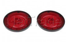 Nilfisk - Red rear wheels (2pcs)  coupe neo - 78602711
