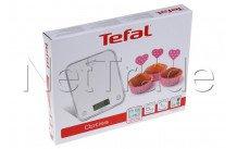 Tefal - Bc5004v2 kitchen scale optiss  - 5kg  -  silver - BC5004V2