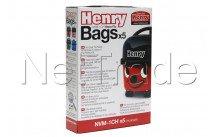 Numatic - Stofzak 5 stuks henry hepa-flo   9 liter t.b.v. james/henry/hetty/harry - NVM1CH