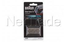 Braun - 52b combi pack / scheercassette - serie 5 - zwart - 81631167