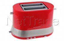 Tecnolux - Toaster - 2 openings - red - power 820w - PT822SM1R