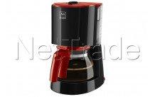Melitta koffiezet  enjoy ii glas zwart rood - 6758970