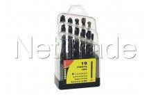 Cogex - Metal drill hss 1 x10mm - 19pcs - box packing - 24217