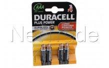 Duracell plus mn2400 lr03 - aaa - 1 .5v - bl. 4pcs - MN2400
