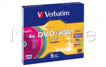 Verbatim 5 x dvd + rw-4.7 gb 4 x-slim jewel case - 43297