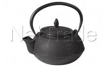 Crealys - Hanoi teapot cast iron - 600 ml - ebony black - 507157