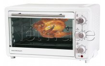 Tecnolux - Mini oven 33 l 1600w white/stainless steel - GT33RC01