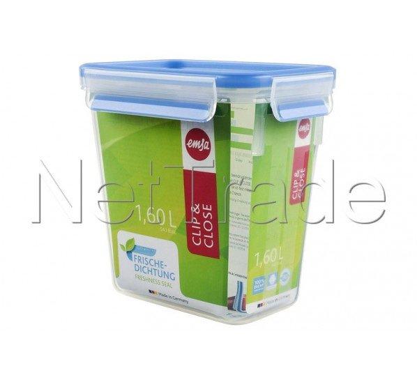 Emsa - Clip & close food storage container rectangular with lid, 1.6l - 508543