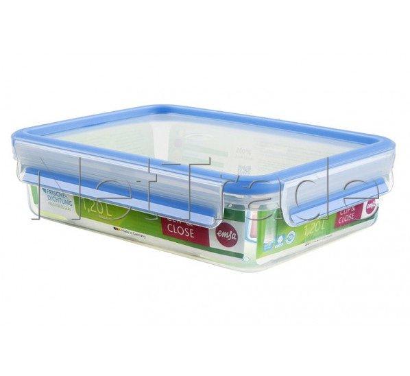Emsa - Clip & close food storage container rectangular with lid, 1.2 l - 508542